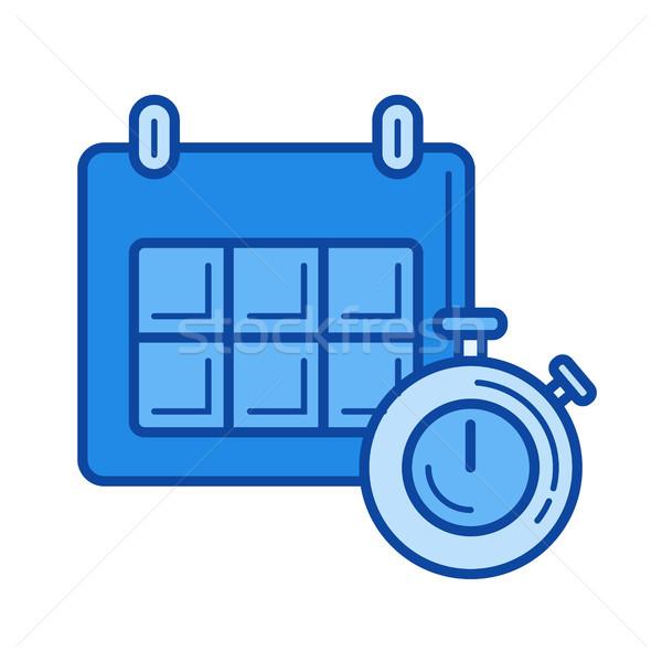 Zeitplan line Symbol Vektor isoliert weiß Stock foto © RAStudio
