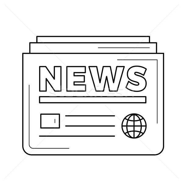 Newspaper line icon. Stock photo © RAStudio