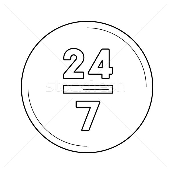 Twenty four hours line icon. Stock photo © RAStudio