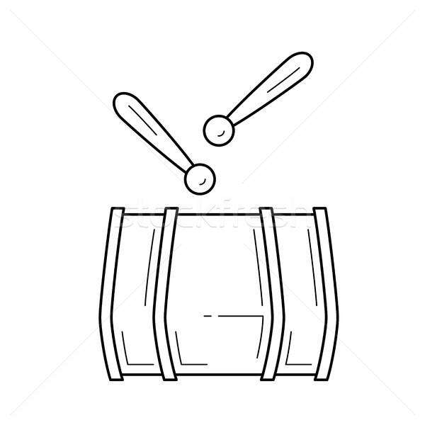 Drum line icon. Stock photo © RAStudio