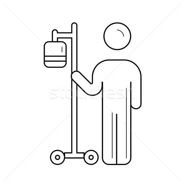 Intravenoso saco linha ícone paciente equipamentos médicos Foto stock © RAStudio