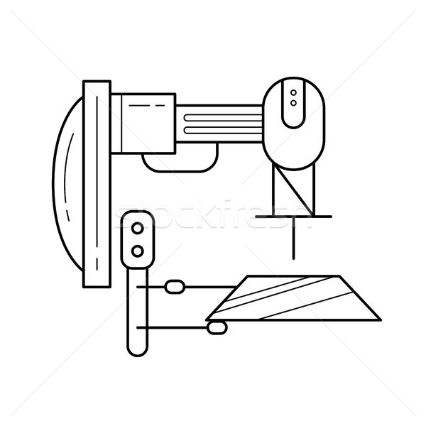 Machine tool vector line icon. Stock photo © RAStudio