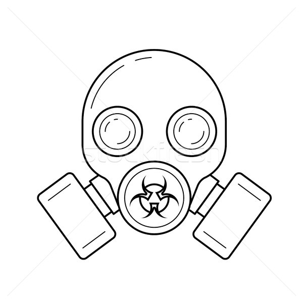 Gas mask vector line icon. Stock photo © RAStudio