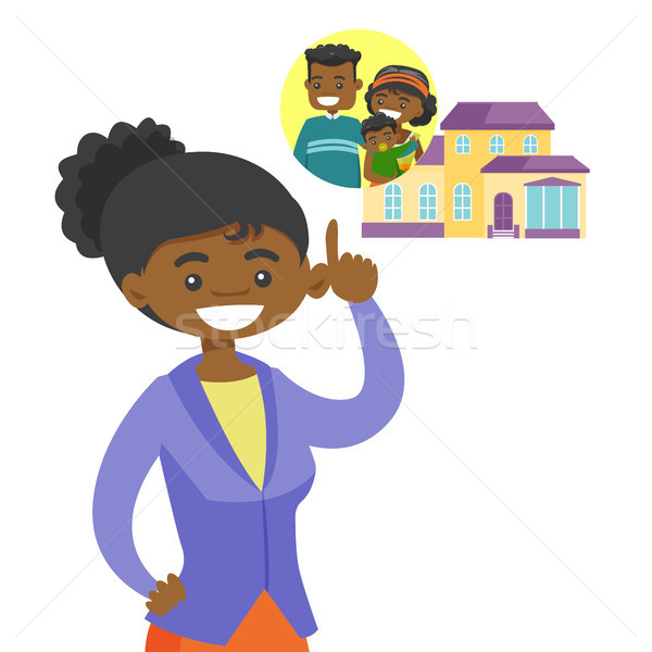Woman planning her purchase of a family house. Stock photo © RAStudio