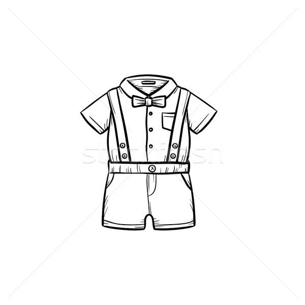 Baby shirt szorty gryzmolić Zdjęcia stock © RAStudio
