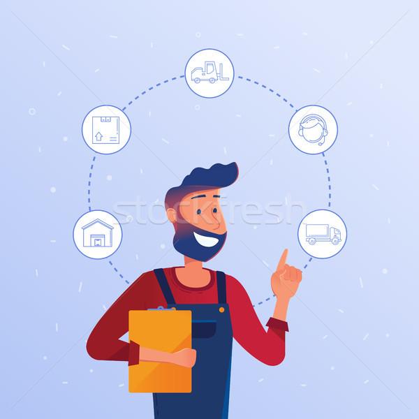 Logistics manager choosing logisitics option. Stock photo © RAStudio