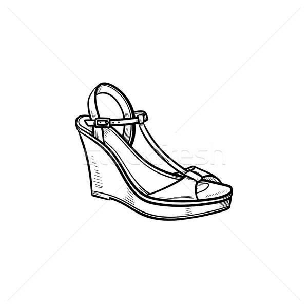 клин рисованной болван икона женщины Сток-фото © RAStudio