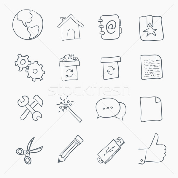 Sketch Icon Set Stock photo © RAStudio
