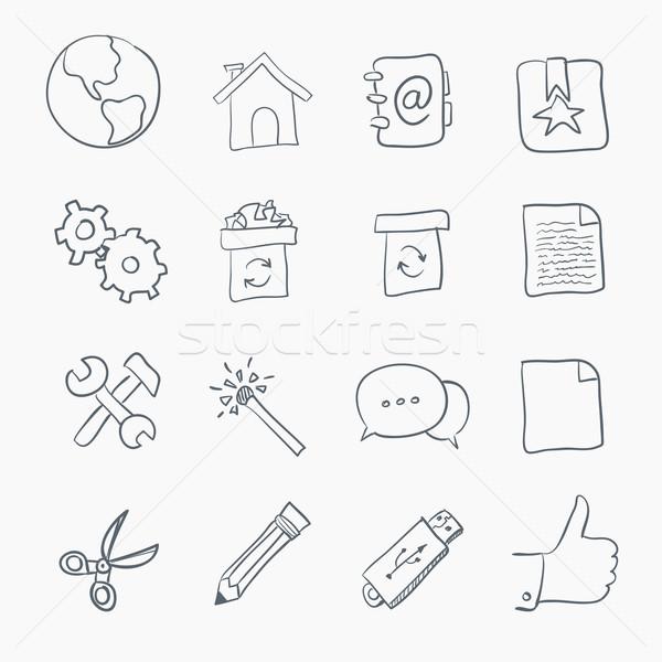 Stock photo: Sketch Icon Set