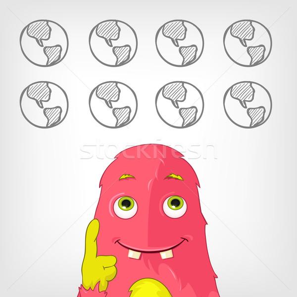 смешные монстр прибыль на акцию 10 бумаги Сток-фото © RAStudio