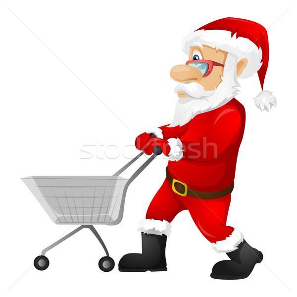 ストックフォト: サンタクロース · 孤立した · グレー · 勾配 · ショッピング