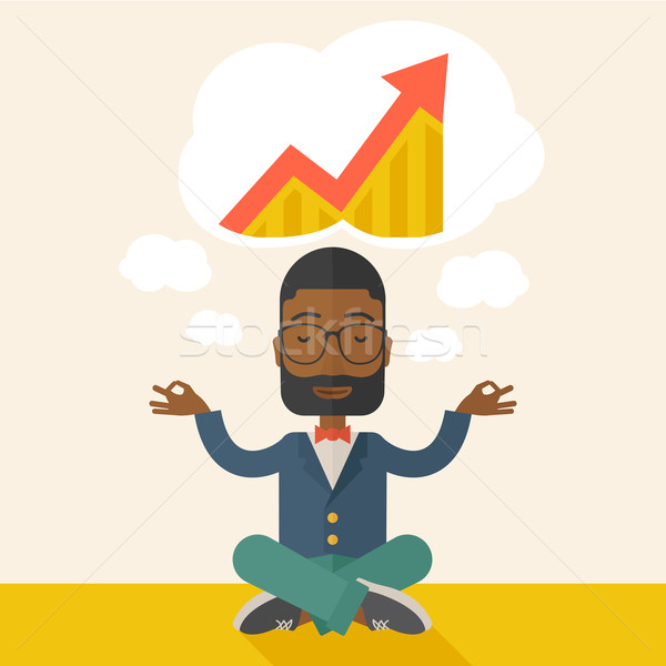 African Businessman get the idea Stock photo © RAStudio