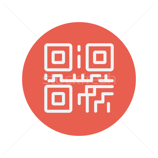 QR code thin line icon Stock photo © RAStudio