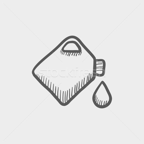 Gas contenitore sketch icona web mobile Foto d'archivio © RAStudio