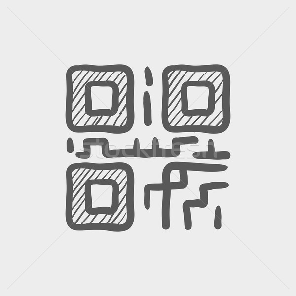 QR code sketch icon Stock photo © RAStudio