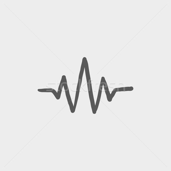 Fala dźwiękowa szkic ikona internetowych komórkowych Zdjęcia stock © RAStudio