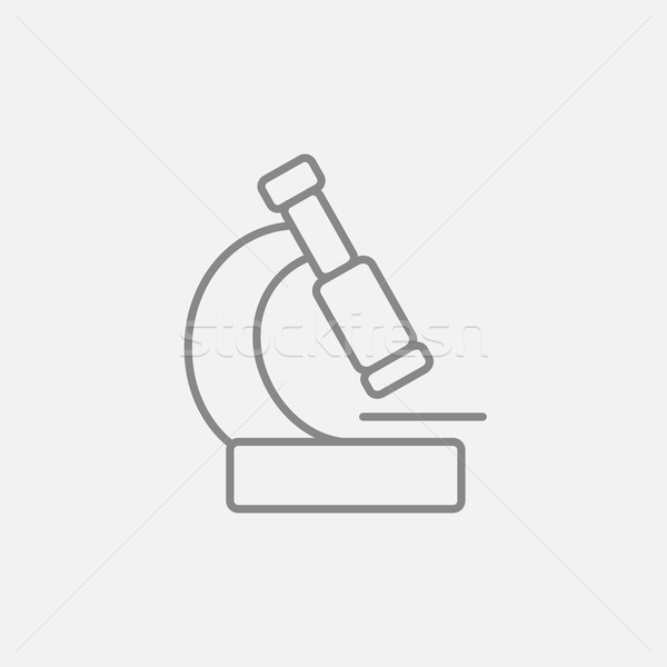 Microscope line icon. Stock photo © RAStudio