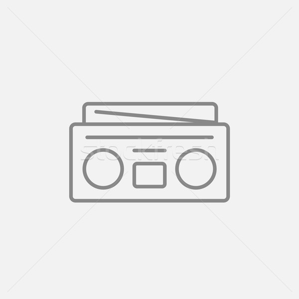Radio cassette player line icon. Stock photo © RAStudio