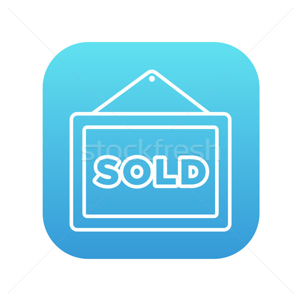 Stock photo: Sold placard line icon.