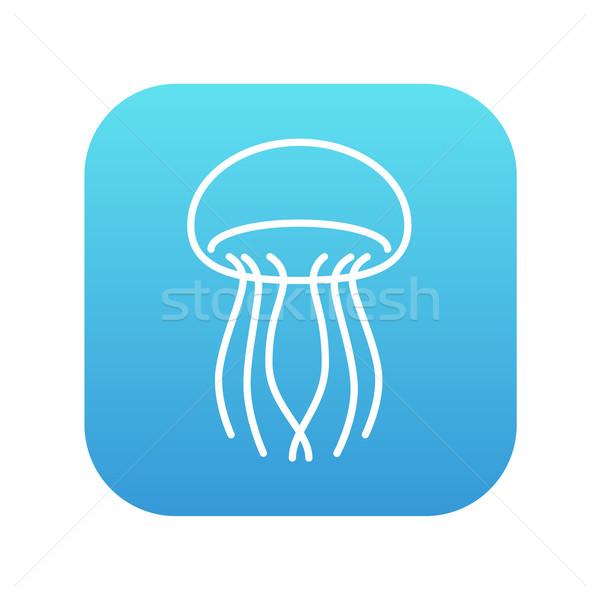 медуз линия икона веб мобильных Инфографика Сток-фото © RAStudio