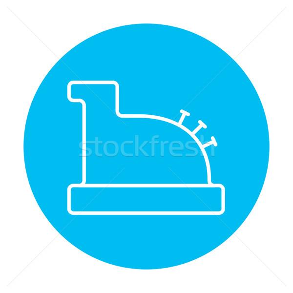 Cash register machine line icon. Stock photo © RAStudio