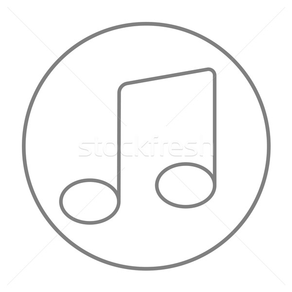 Stock photo: Music note line icon.
