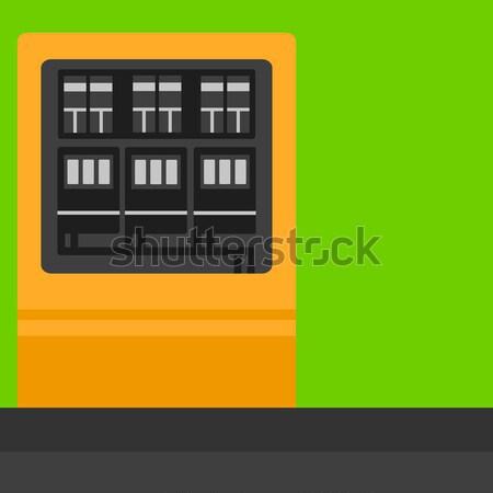 Background of electric switchboard. Stock photo © RAStudio