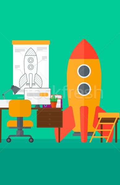 Workspace бизнеса запуска ракета вектора дизайна Сток-фото © RAStudio