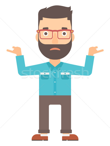 Man standing with open arms. Stock photo © RAStudio
