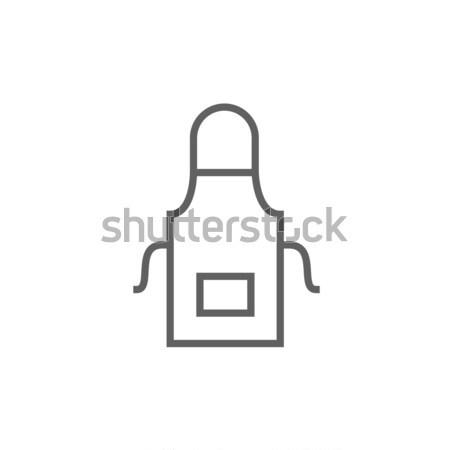 Keuken schort lijn icon hoeken web Stockfoto © RAStudio