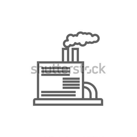 Refinería planta línea icono esquinas web Foto stock © RAStudio