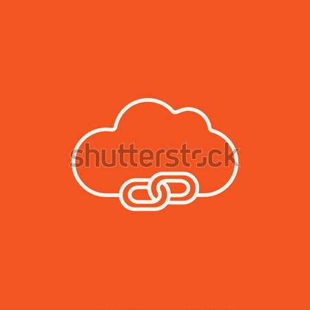 Cloud computing line icon. Stock photo © RAStudio