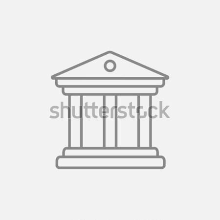 музее линия икона уголки веб мобильных Сток-фото © RAStudio