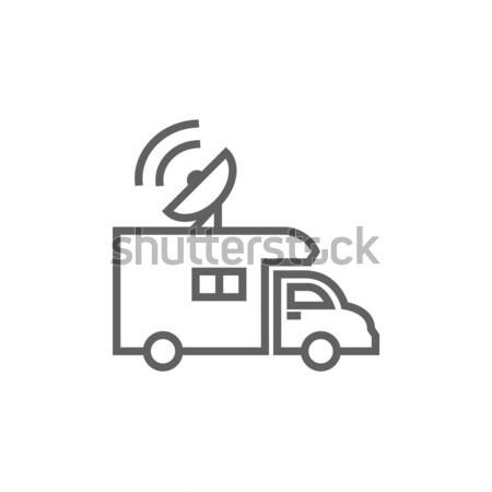 Broadcasting van  line icon. Stock photo © RAStudio
