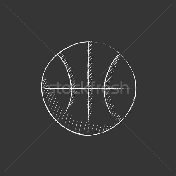 Basketball ball. Drawn in chalk icon. Stock photo © RAStudio