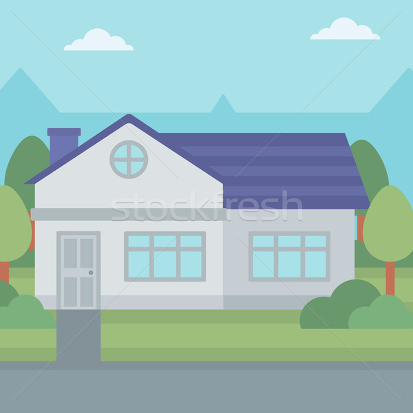 Background of suburban house. Stock photo © RAStudio