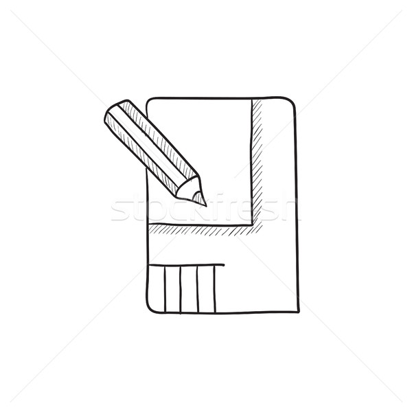 Layout of the house sketch icon. Stock photo © RAStudio