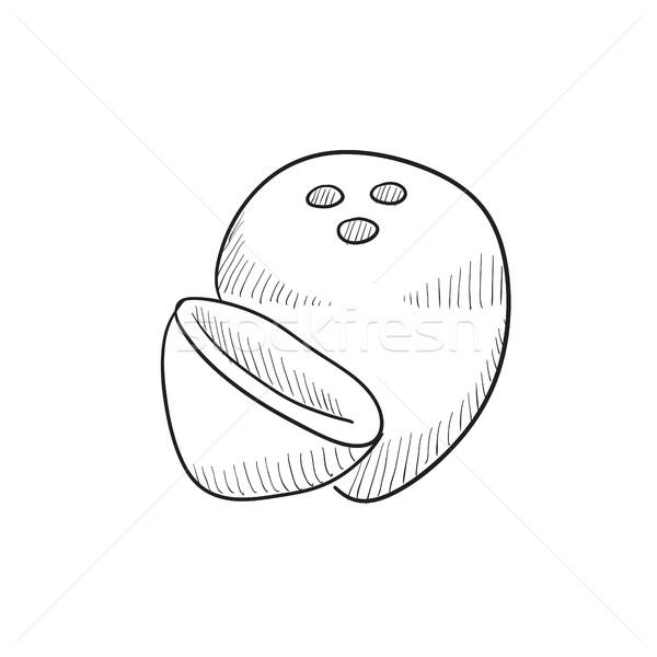 Coconut sketch icon. Stock photo © RAStudio