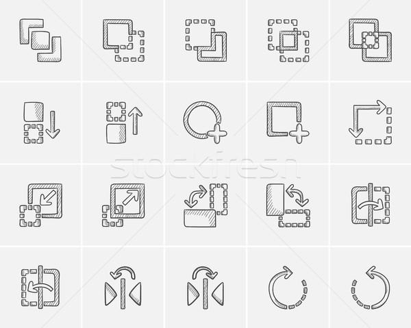技術 スケッチ ウェブ 携帯 インフォグラフィック ストックフォト © RAStudio