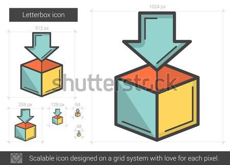 Stock fotó: Vonal · ikon · vektor · izolált · fehér · infografika