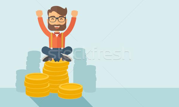 Happy Businessman Stock photo © RAStudio