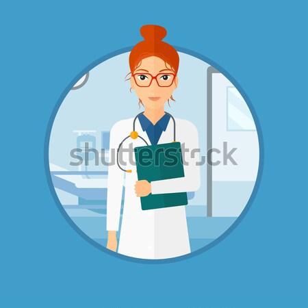 Orvos akta orvosi iroda sztetoszkóp hordoz Stock fotó © RAStudio