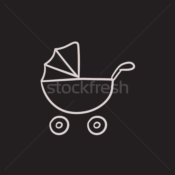 Baby stroller sketch icon. Stock photo © RAStudio