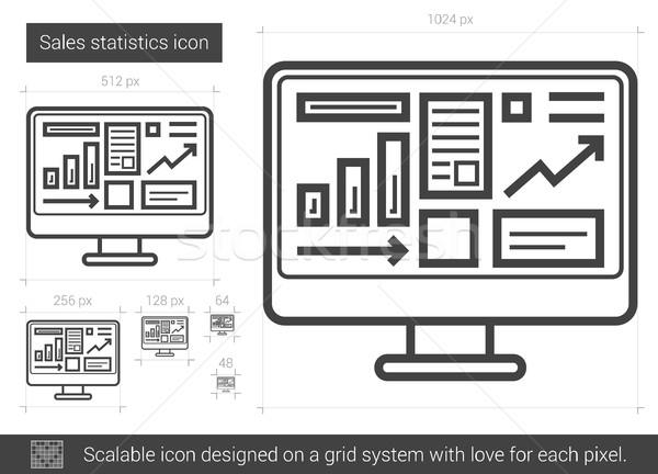 Satış istatistik hat ikon vektör yalıtılmış Stok fotoğraf © RAStudio