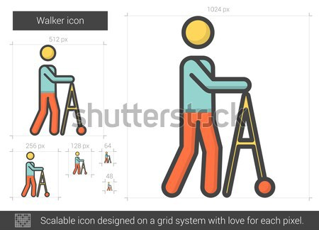 Walker line icon. Stock photo © RAStudio