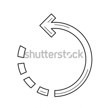 вращать изображение линия икона вектора изолированный Сток-фото © RAStudio