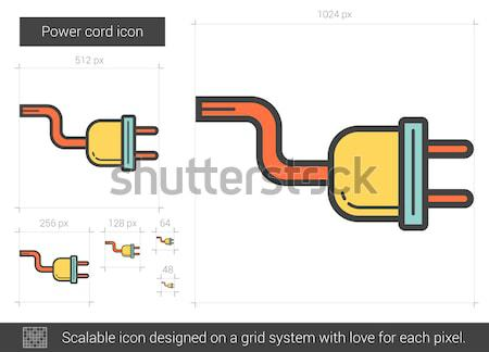Power cord line icon. Stock photo © RAStudio