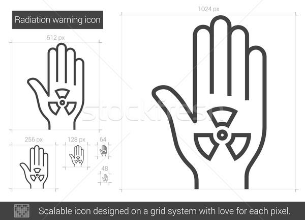 Radiation warning line icon. Stock photo © RAStudio