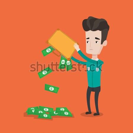 Fuera dinero maletín deprimido empresario Foto stock © RAStudio