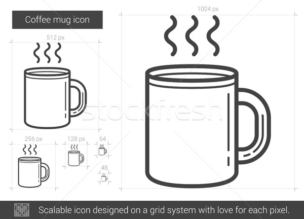 Coffee mug line icon. Stock photo © RAStudio